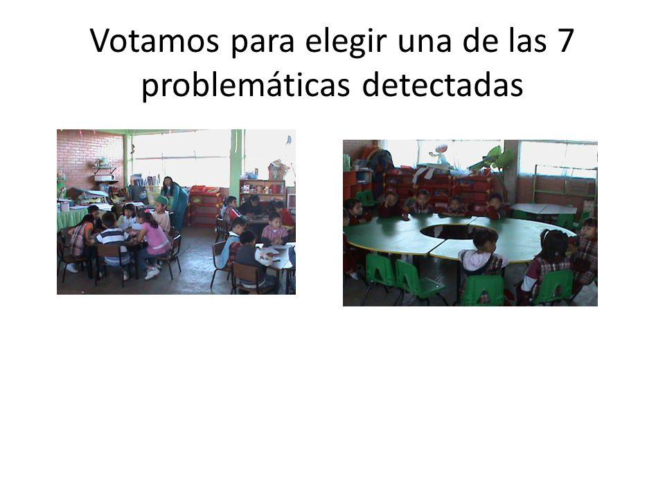 Votamos para elegir una de las 7 problemáticas detectadas