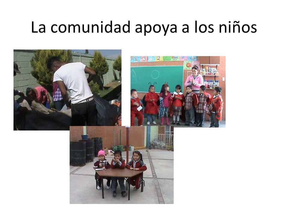 La comunidad apoya a los niños