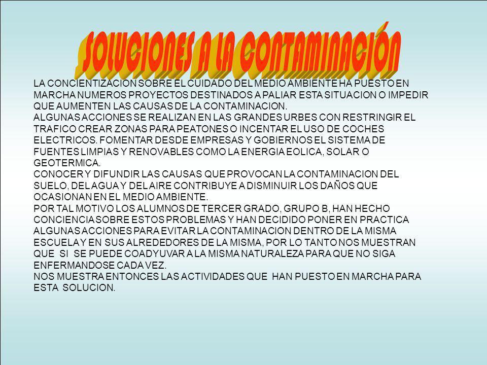 LOS RESIDUOS URBANOS SON UNAS DE LAS FORMAS MAS COMUNES DE CONTAMINACION, CADA CIUDADANO EN LAS GRANDES URBES APORTA UNA CANTIDAD DE ESTOS RESIDUOS.