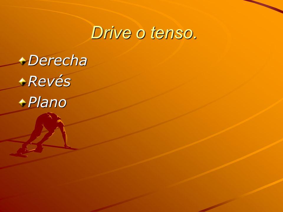 Drive o tenso. Drive o tenso. DerechaRevésPlano