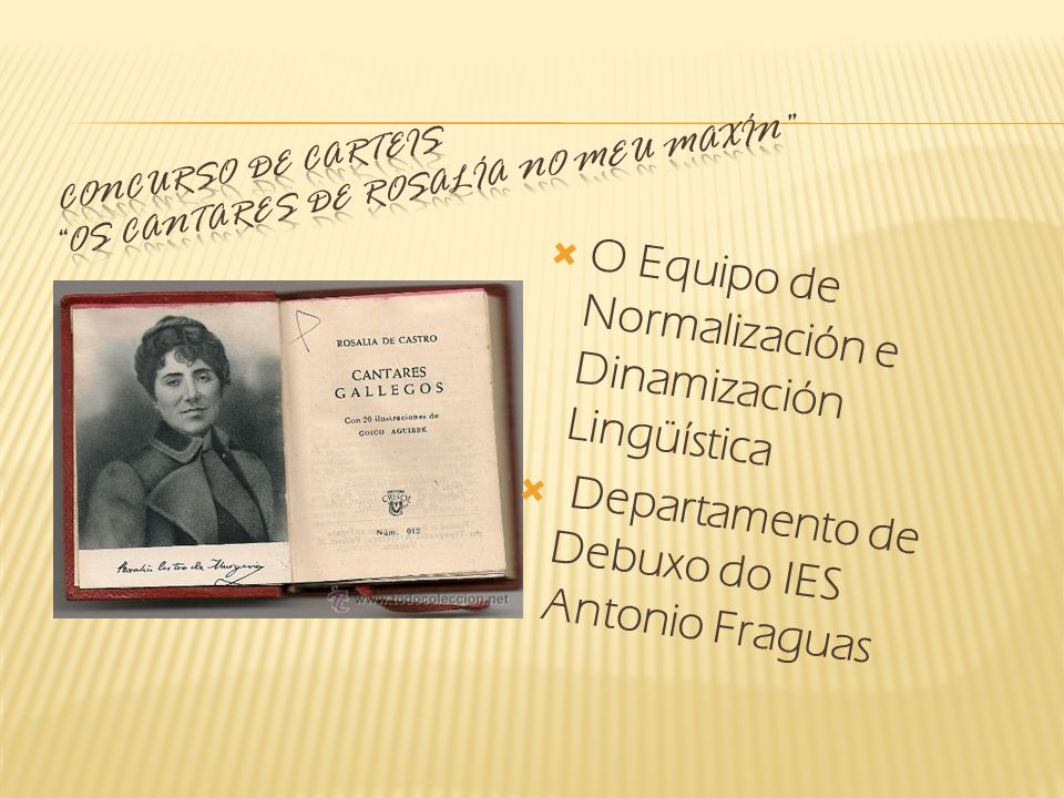 O Equipo de Normalización e Dinamización Lingüística Departamento de Debuxo do IES Antonio Fraguas