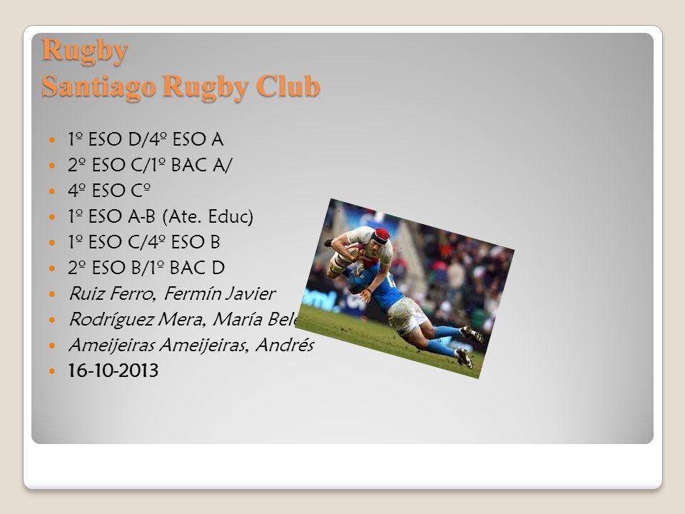 Rugby Santiago Rugby Club 1º ESO D/4º ESO A 2º ESO C/1º BAC A/ 4º ESO Cº 1º ESO A-B (Ate. Educ) 1º ESO C/4º ESO B 2º ESO B/1º BAC D Ruiz Ferro, Fermín
