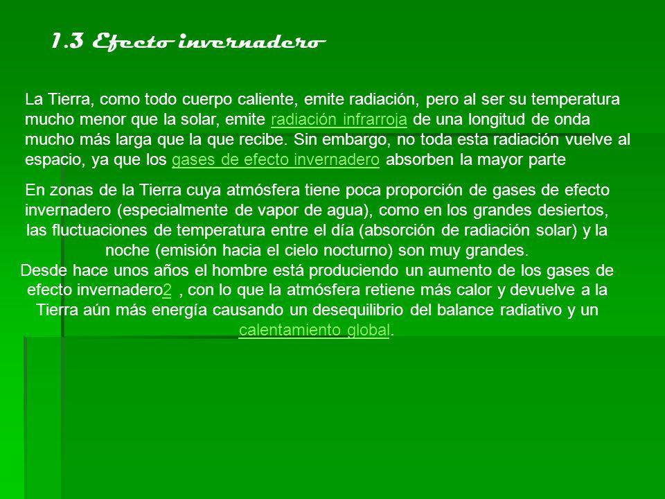 2.Gases de efecto invernadero y actividad industrial Los denominados gases de efecto invernadero o gases invernadero, responsables del efecto descrito, son:Vapor de agua (H2O).