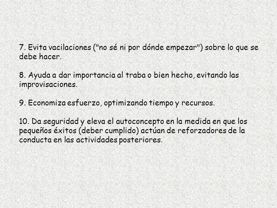 7. Evita vacilaciones (