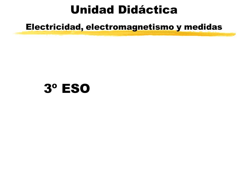Unidad Didáctica Electricidad, electromagnetismo y medidas 3º ESO