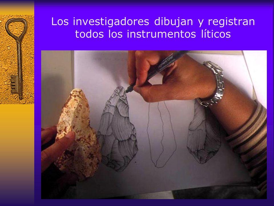 Y muestran sumo cuidado en la extracción de fósiles humanos Detalle en la Sima Dolina