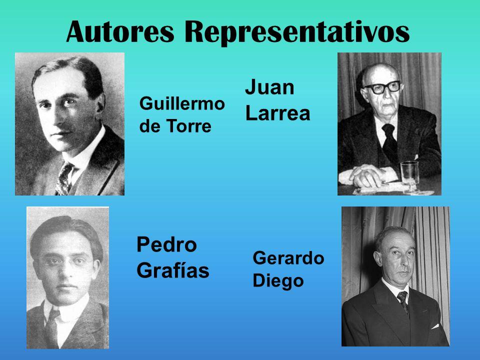 Autores Representativos Guillermo de Torre Pedro Grafías Juan Larrea Gerardo Diego