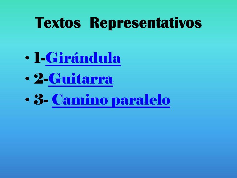 Textos Representativos 1-GirándulaGirándula 2-GuitarraGuitarra 3- Camino paraleloCamino paralelo