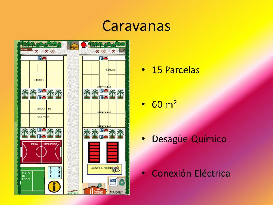 Caravanas 15 Parcelas 60 m 2 Desagüe Químico Conexión Eléctrica