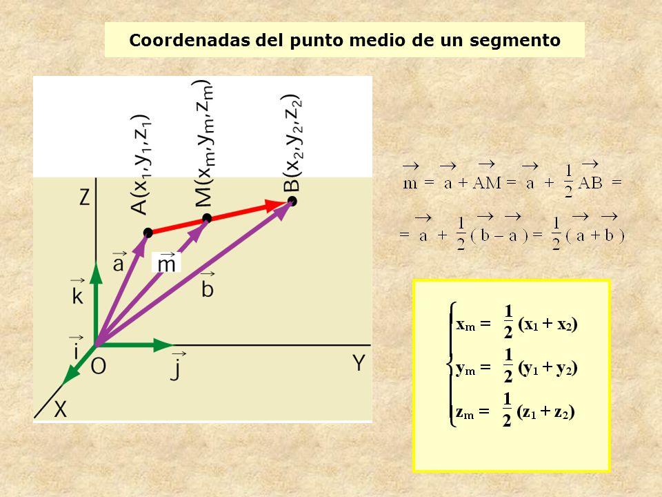 Coordenadas del punto medio de un segmento