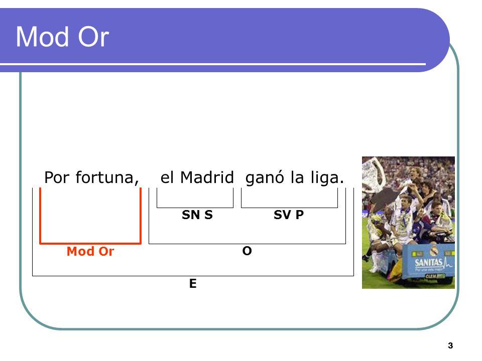 3 Mod Or Por fortuna,el Madridganó la liga. O SN SSV P Mod Or E