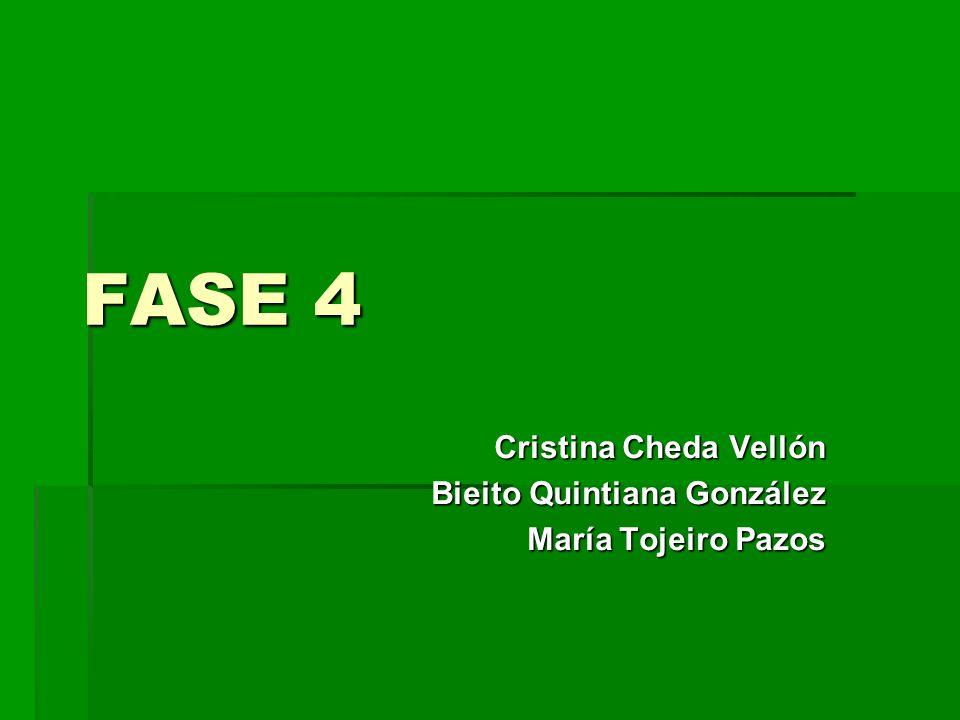 FASE 4 Cristina Cheda Vellón Bieito Quintiana González María Tojeiro Pazos