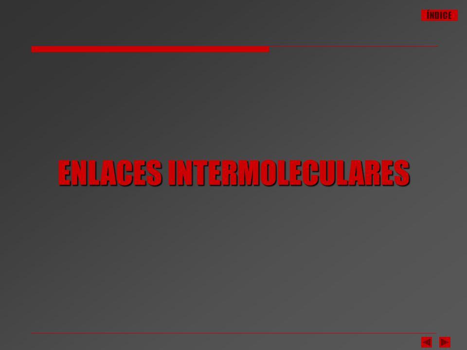 ÍNDICE ENLACES INTERMOLECULARES