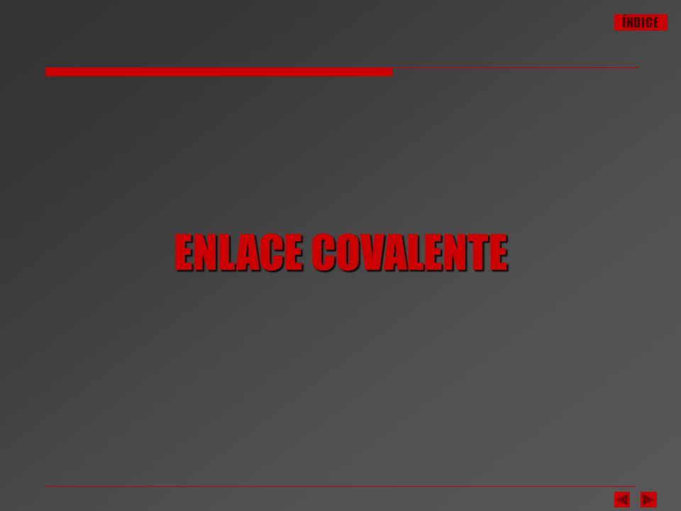 ÍNDICE Enlace Covalente.