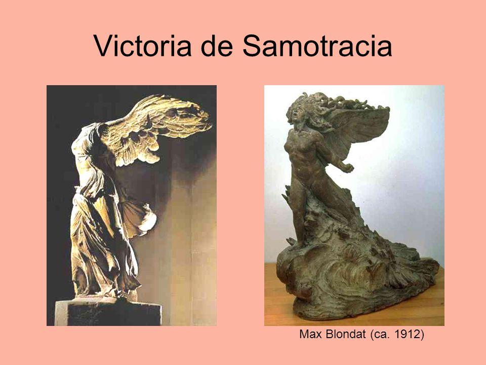 Victoria de Samotracia Max Blondat (ca. 1912)
