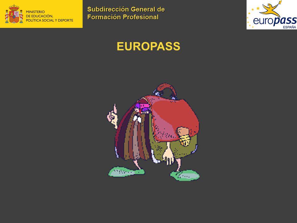 EUROPASS Subdirección General de Formación Profesional
