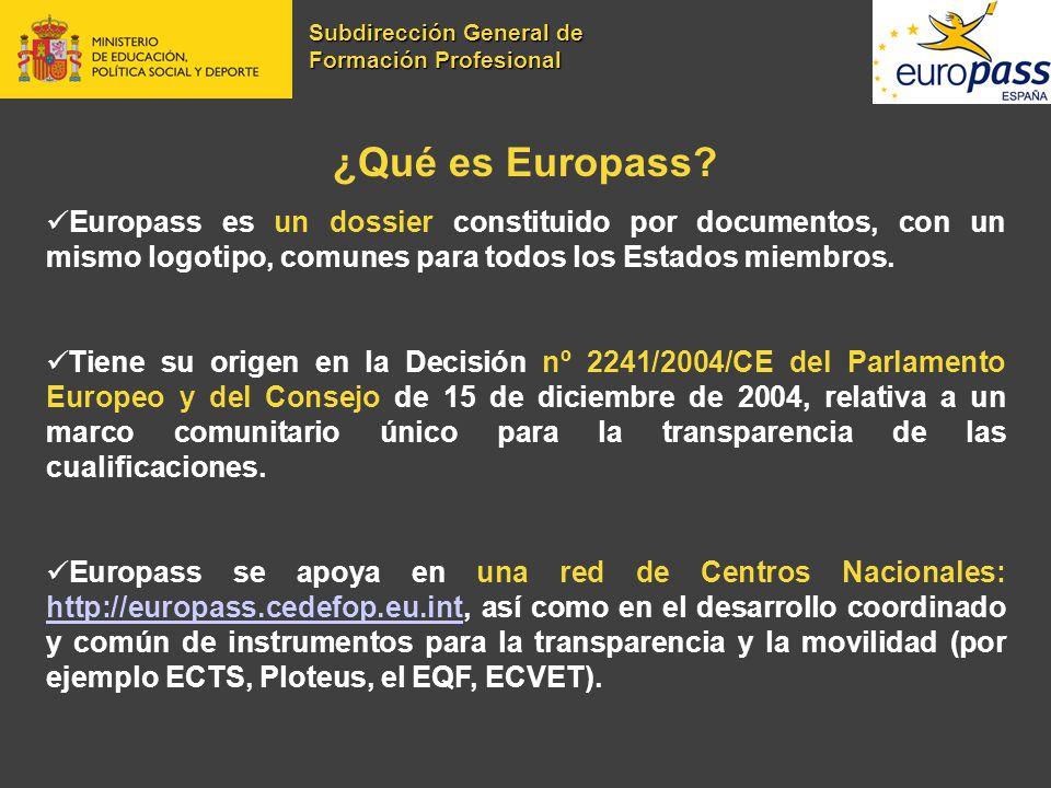 ¿Qué es Europass? Europass es un dossier constituido por documentos, con un mismo logotipo, comunes para todos los Estados miembros. Tiene su origen e