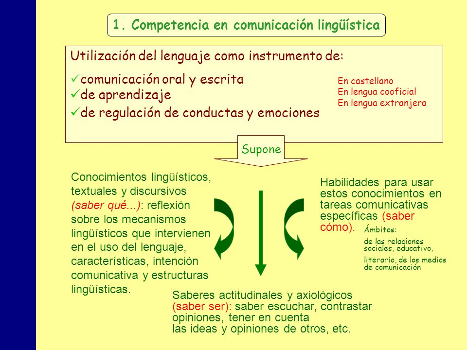 MINISTERIO DE EDUCACIÓN, POLÍTICA SOCIAL Y DEPORTE Utilización del lenguaje como instrumento de: comunicación oral y escrita de aprendizaje de regulac