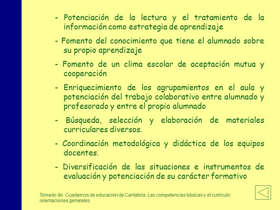 MINISTERIO DE EDUCACIÓN, POLÍTICA SOCIAL Y DEPORTE - Potenciación de la lectura y el tratamiento de la información como estrategia de aprendizaje - Fo
