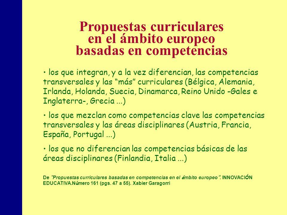 MINISTERIO DE EDUCACIÓN, POLÍTICA SOCIAL Y DEPORTE los que integran, y a la vez diferencian, las competencias transversales y las más curriculares (Bé