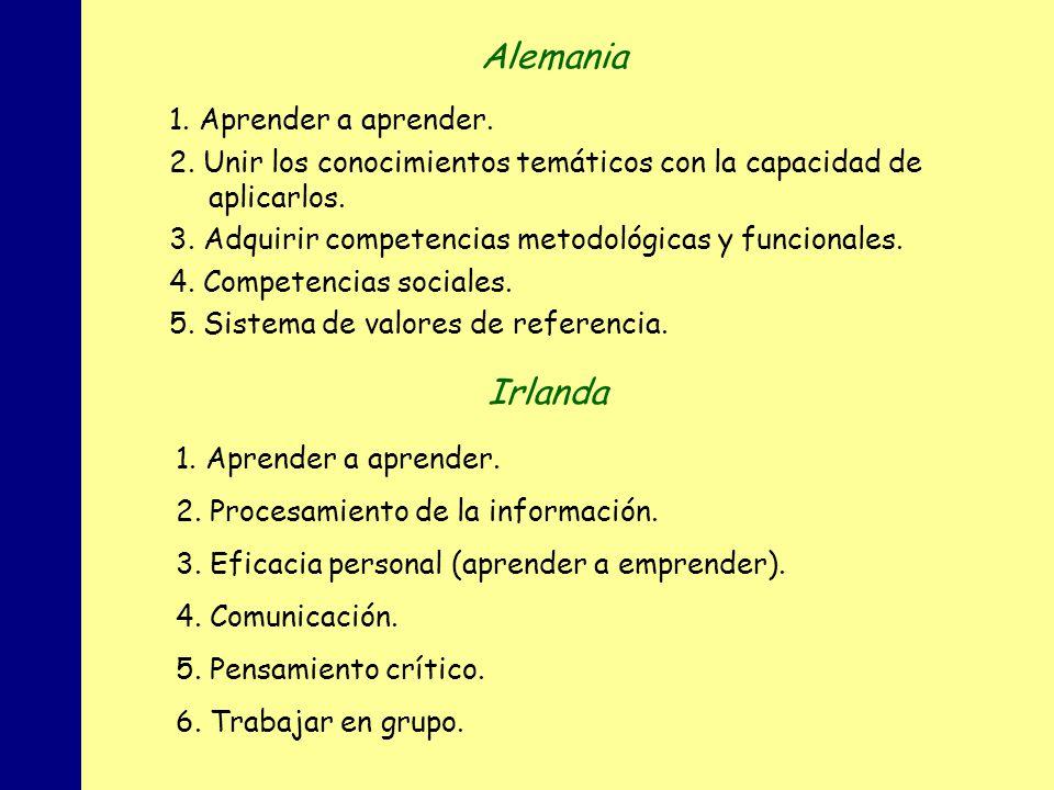 MINISTERIO DE EDUCACIÓN, POLÍTICA SOCIAL Y DEPORTE 1. Aprender a aprender. 2. Unir los conocimientos temáticos con la capacidad de aplicarlos. 3. Adqu