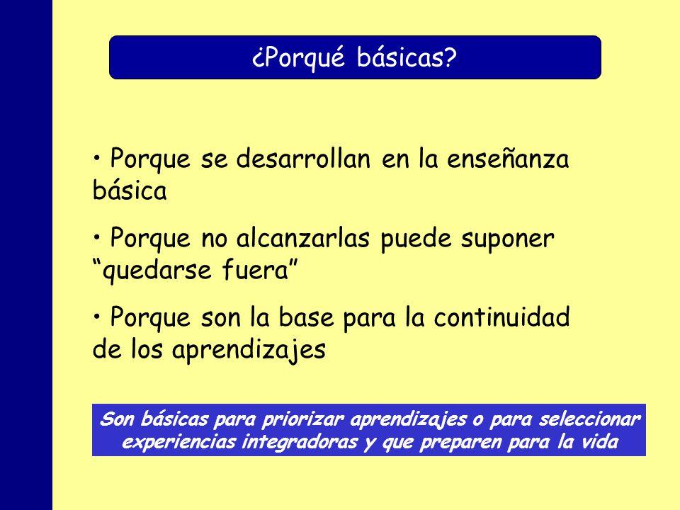 MINISTERIO DE EDUCACIÓN, POLÍTICA SOCIAL Y DEPORTE ¿Porqué básicas.