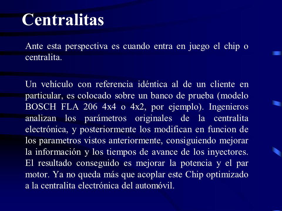 Ante esta perspectiva es cuando entra en juego el chip o centralita. Un vehículo con referencia idéntica al de un cliente en particular, es colocado s