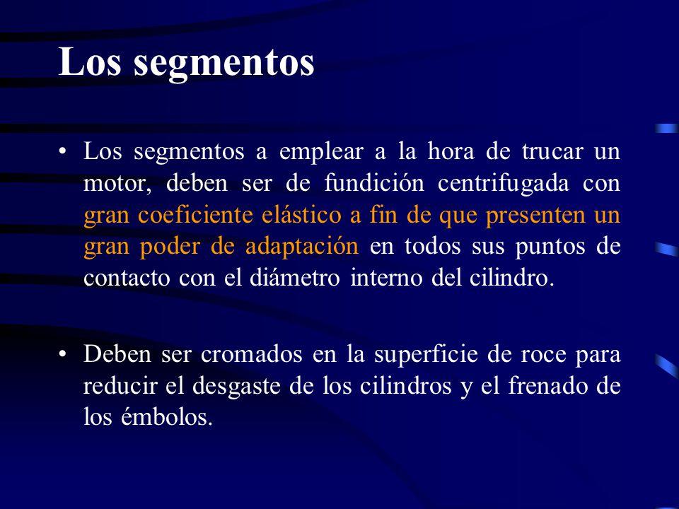 Los segmentos Los segmentos a emplear a la hora de trucar un motor, deben ser de fundición centrifugada con gran coeficiente elástico a fin de que pre