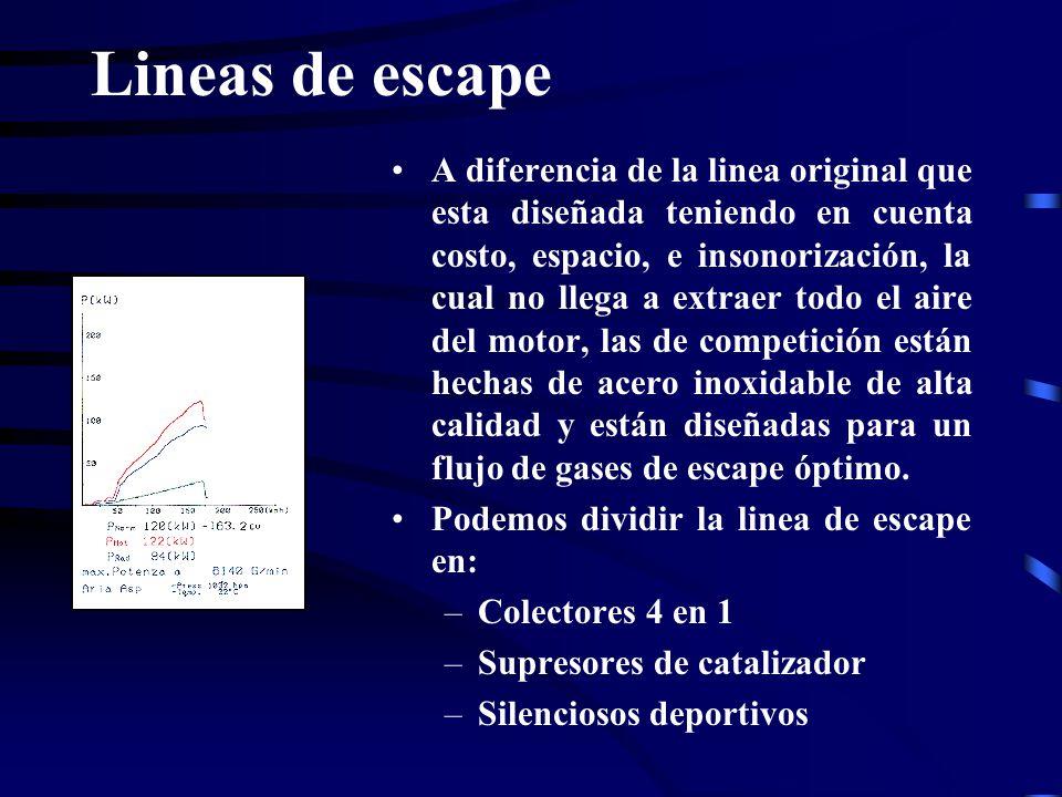 Lineas de escape A diferencia de la linea original que esta diseñada teniendo en cuenta costo, espacio, e insonorización, la cual no llega a extraer t