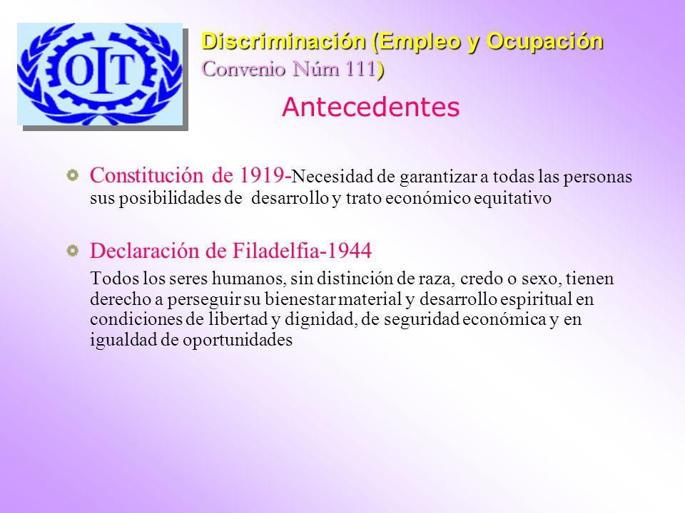 Antecedentes Constitución de 1919- Necesidad de garantizar a todas las personas sus posibilidades de desarrollo y trato económico equitativo Declaraci
