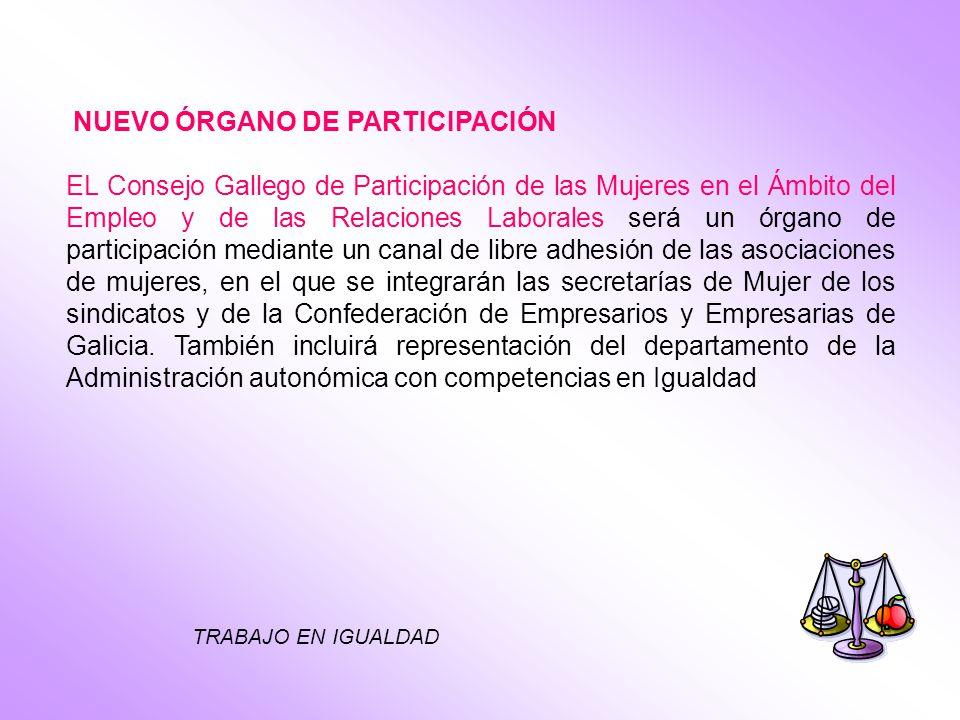 TRABAJO EN IGUALDAD NUEVO ÓRGANO DE PARTICIPACIÓN EL Consejo Gallego de Participación de las Mujeres en el Ámbito del Empleo y de las Relaciones Labor