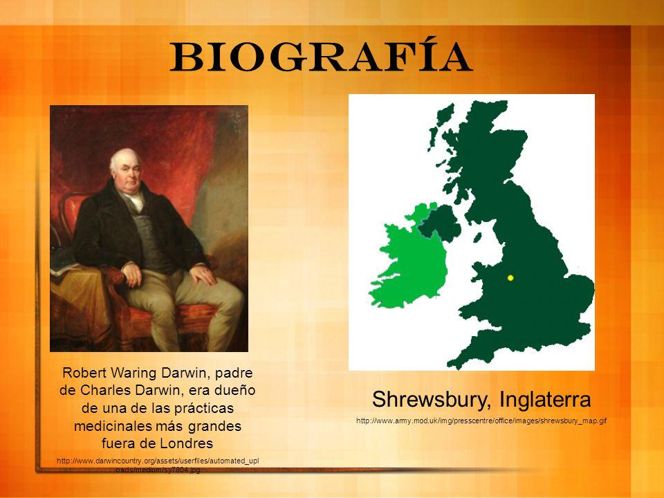 Biografía Robert Waring Darwin, padre de Charles Darwin, era dueño de una de las prácticas medicinales más grandes fuera de Londres http://www.darwinc