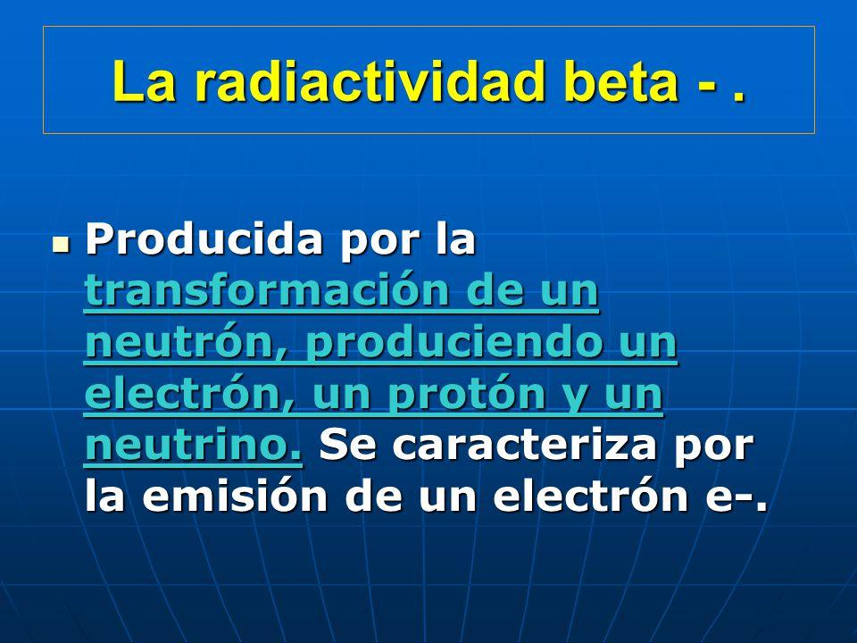 La radiactividad beta -.