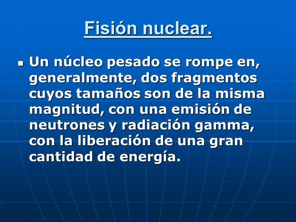 Fisión nuclear.