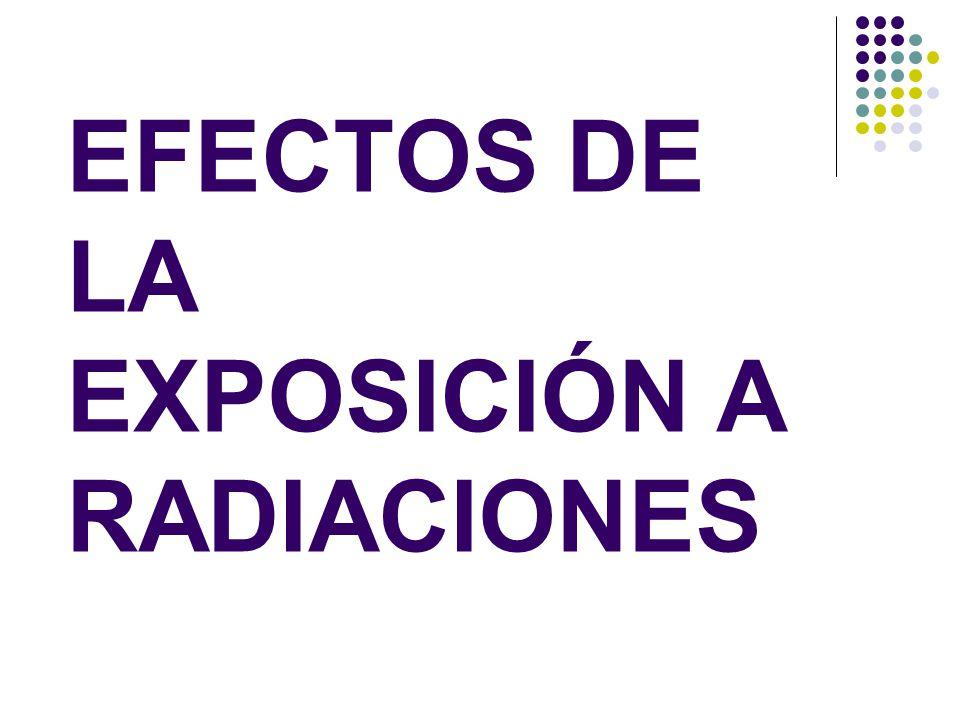 EFECTOS DE LA EXPOSICIÓN A RADIACIONES