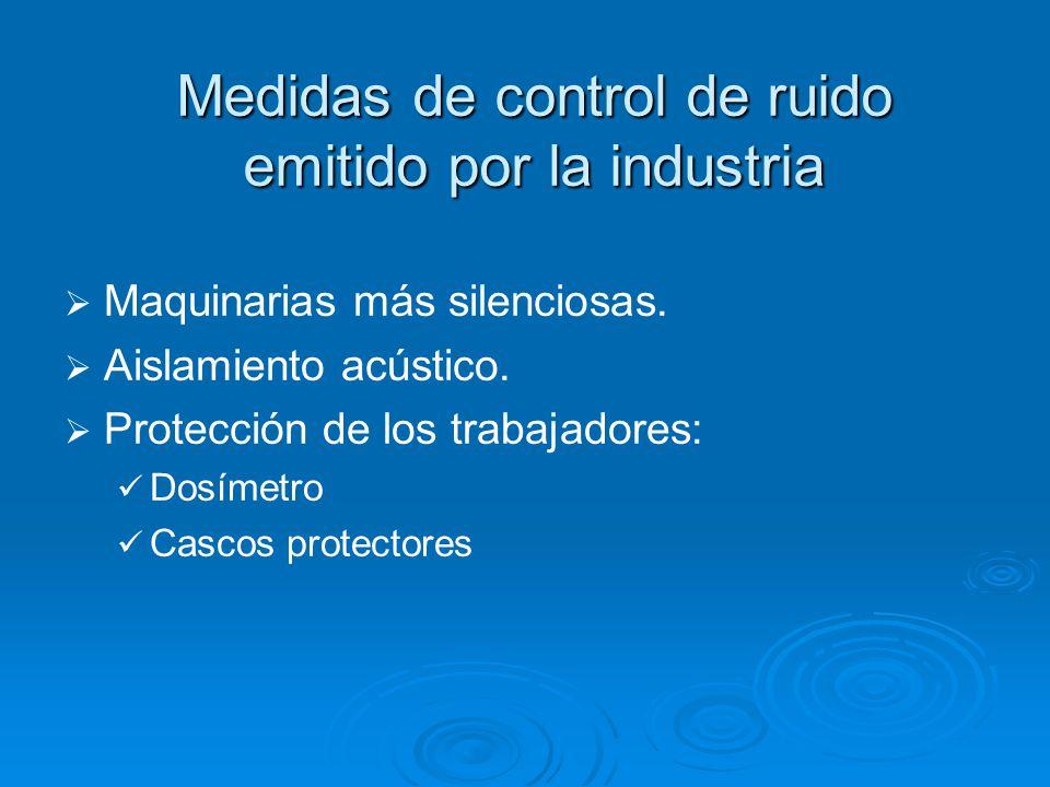 Medidas de control de ruido emitido por la industria Maquinarias más silenciosas.