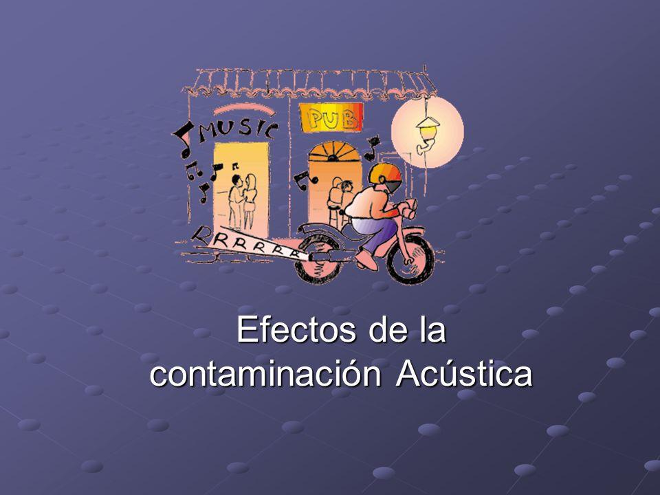 Efectos de la contaminación Acústica