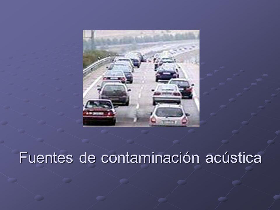 Fuentes de contaminación acústica