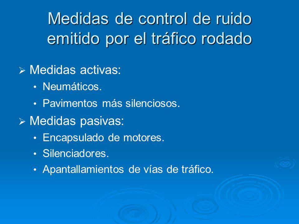 Medidas de control de ruido emitido por el tráfico rodado Medidas activas: Neumáticos.