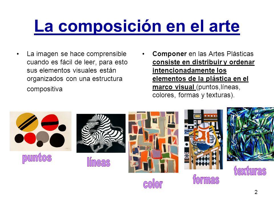 3 El punto de interés o centro visual En el conjunto visual los elementos poseen un orden y una jerarquía determinada y marcada por el punto de interés o también llamado centro visual.