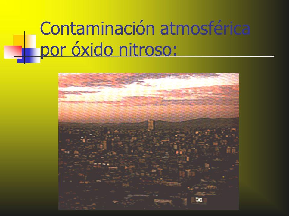 Contaminación atmosférica por óxido nitroso: