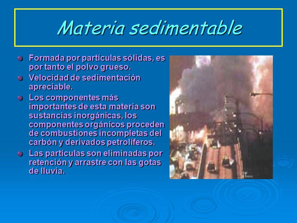 Formación de aerosoles Naturales: pueden ser: Marinos: partículas cuyo elemento mayoritario es el cloruro sódico. Continentales: formados por partícul