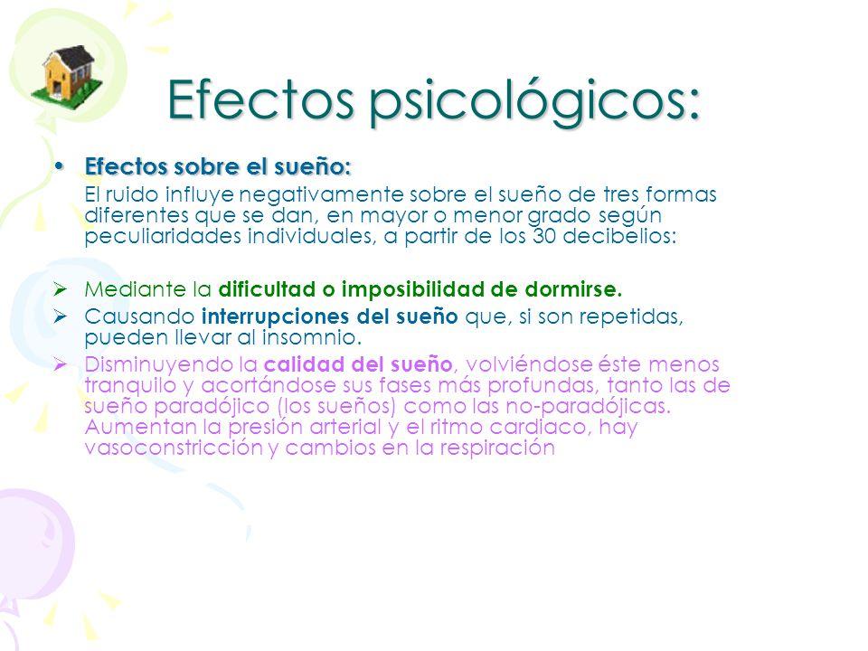 Efectos fisiológicos E.