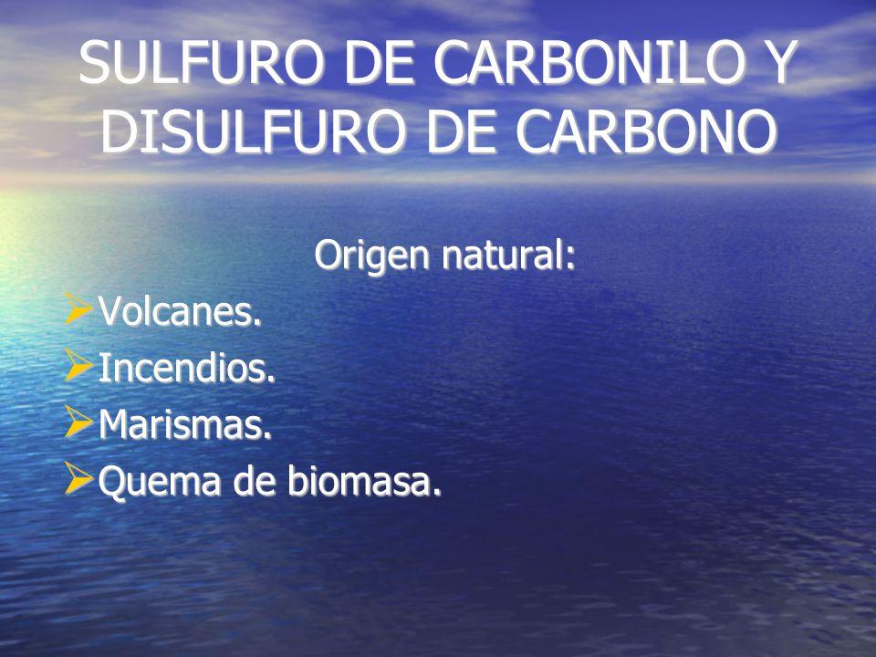 SULFURO DE DIMETILO ORIGEN: Océanos. Océanos. Organismos marinos: Fitoplancton.