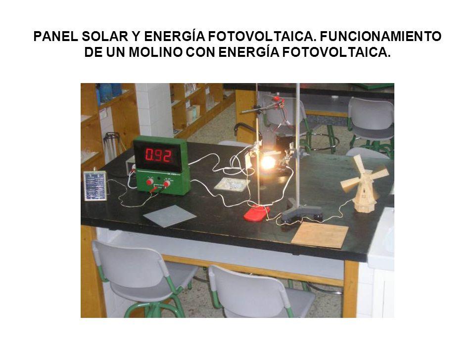PANEL SOLAR Y ENERGÍA FOTOVOLTAICA. FUNCIONAMIENTO DE UN MOLINO CON ENERGÍA FOTOVOLTAICA.