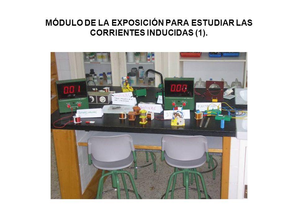 MÓDULO DE LA EXPOSICIÓN PARA ESTUDIAR LAS CORRIENTES INDUCIDAS (1).