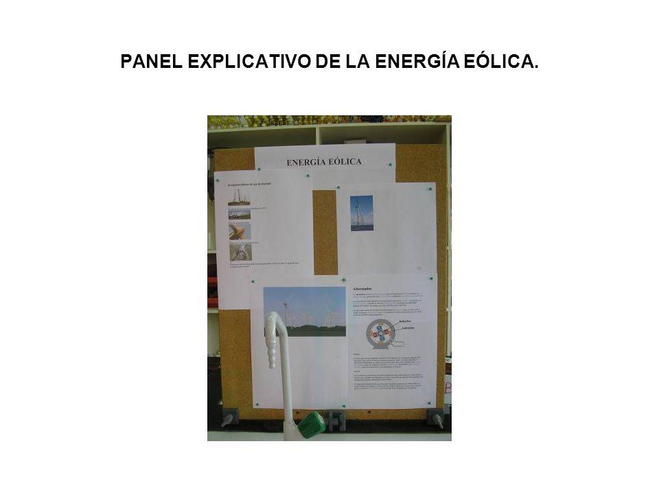 PANEL EXPLICATIVO DE LA ENERGÍA EÓLICA.