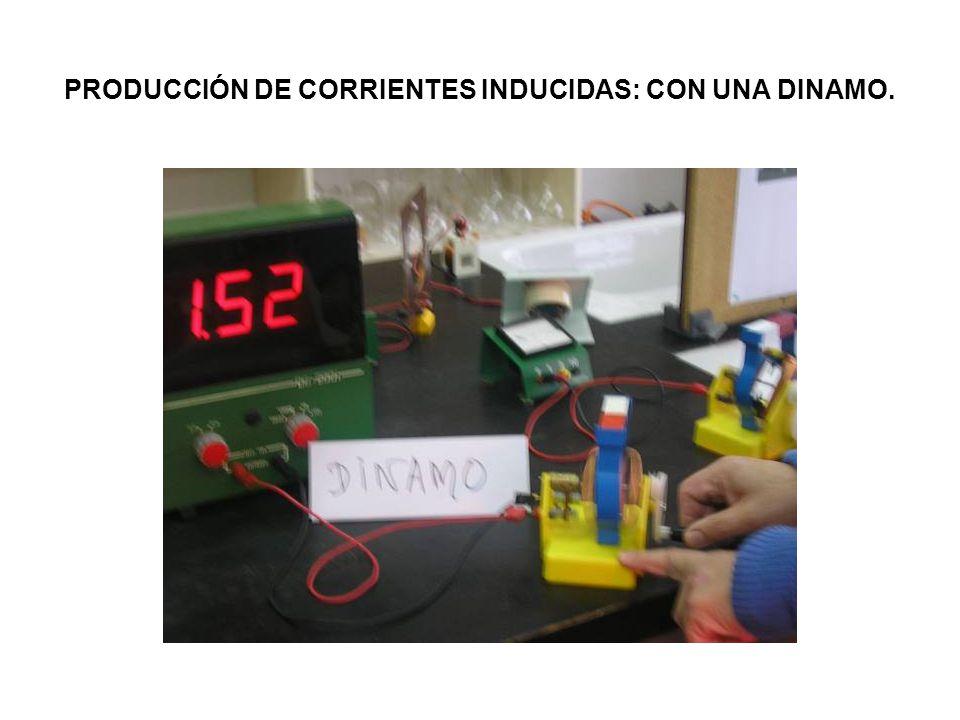 PRODUCCIÓN DE CORRIENTES INDUCIDAS: CON UNA DINAMO.