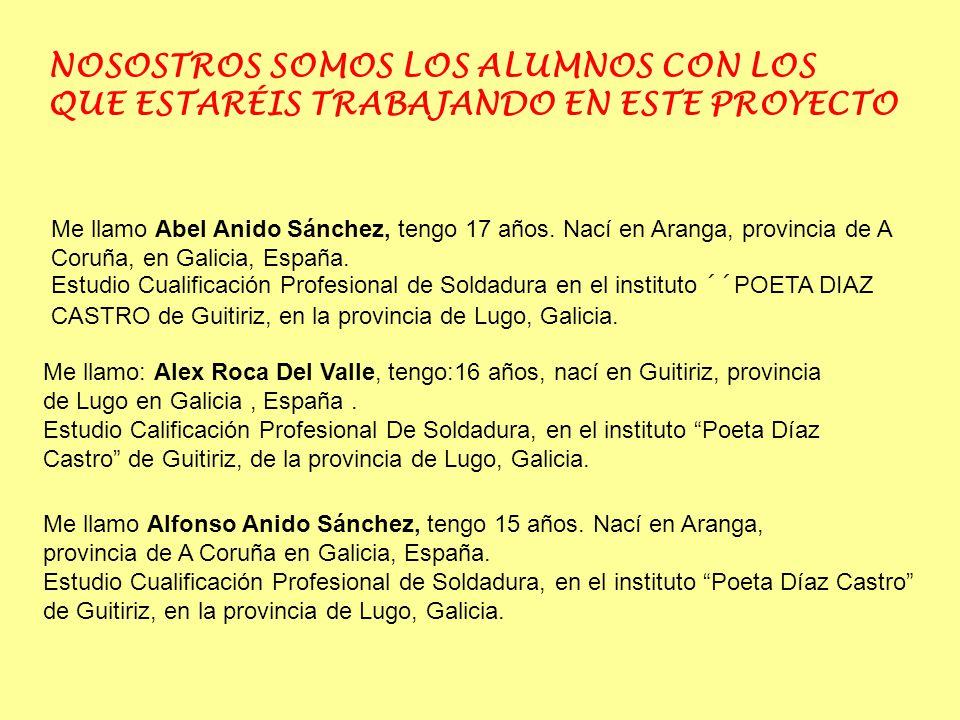 Me llamo Abel Anido Sánchez, tengo 17 años.