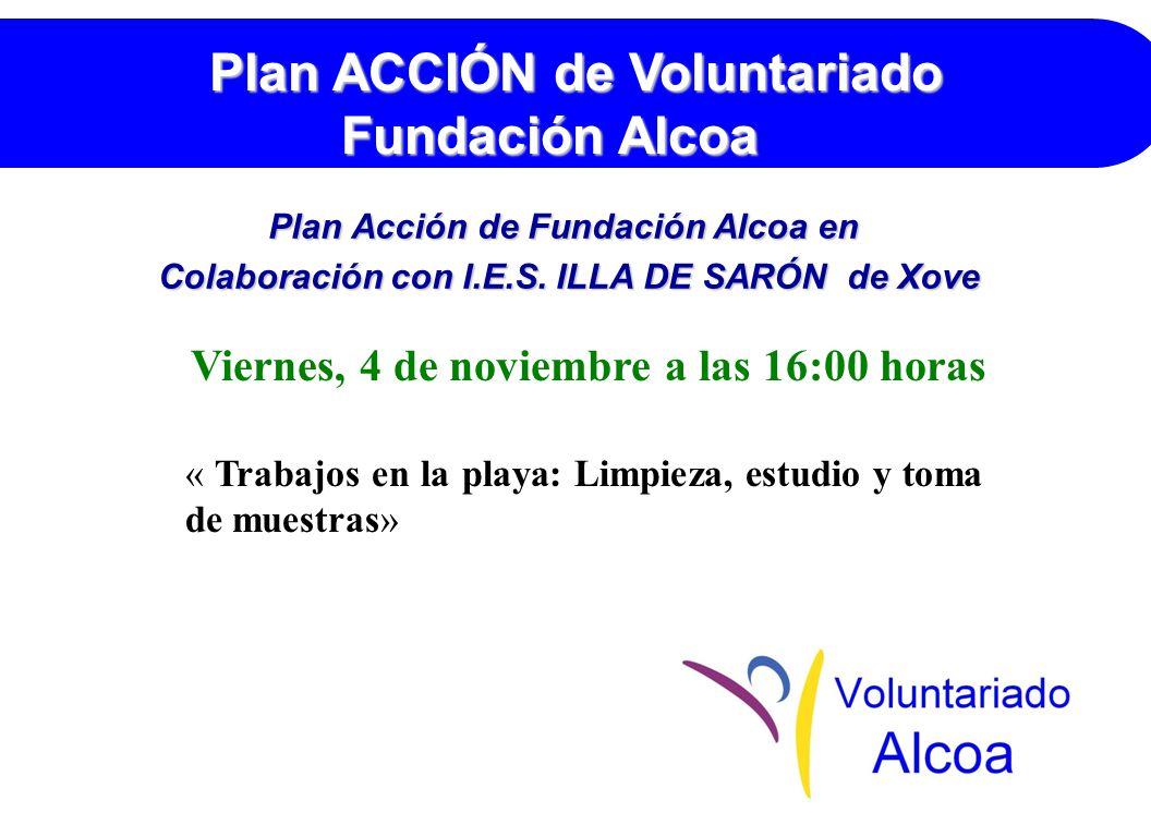 Plan Acción de Fundación Alcoa en Colaboración con I.E.S.